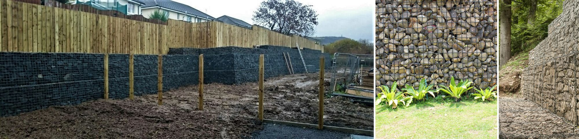 Gabion Retaining Wall Auckland | Gabion Baskets, Stone Walls