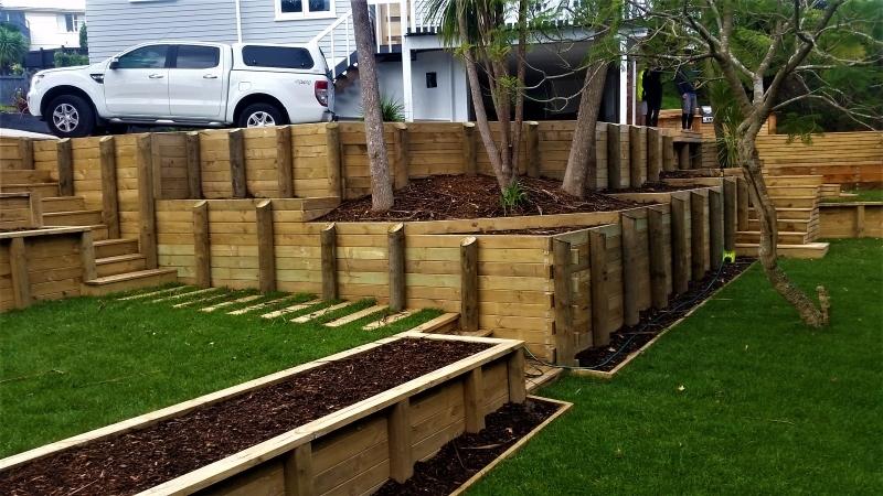Retaining Walls Auckland | Timber, Keystone, Gabion retaining wal